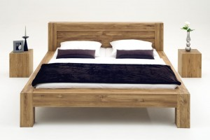 Giant bed with nightstand